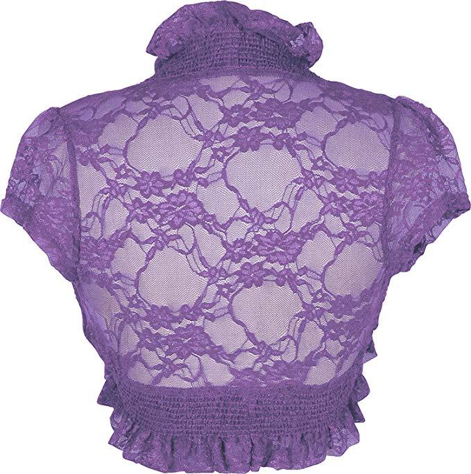 Women bolero clipart clipart free stock Sheer Lace Bolero Jacket Top clipart free stock