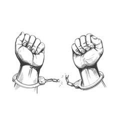 Women breaking handcuffs clipart svg black and white Breaking Handcuffs Vector Images (over 180) svg black and white