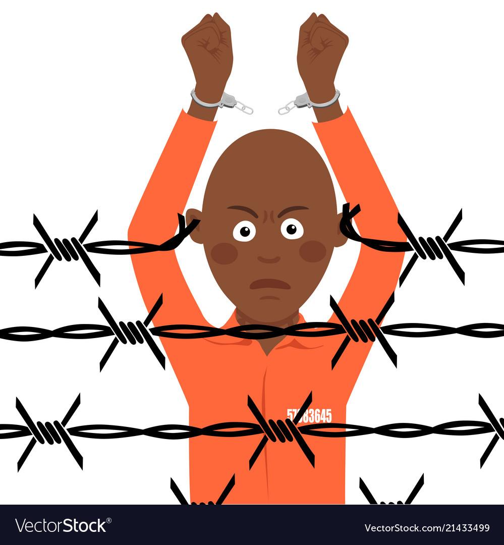 Women breaking handcuffs clipart vector free download African american prisoner in broken handcuffs vector image vector free download