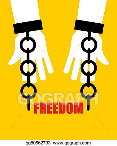 Women breaking handcuffs clipart png freeuse download Vector Clipart - Freedom. broken fetters. liberation from ... png freeuse download