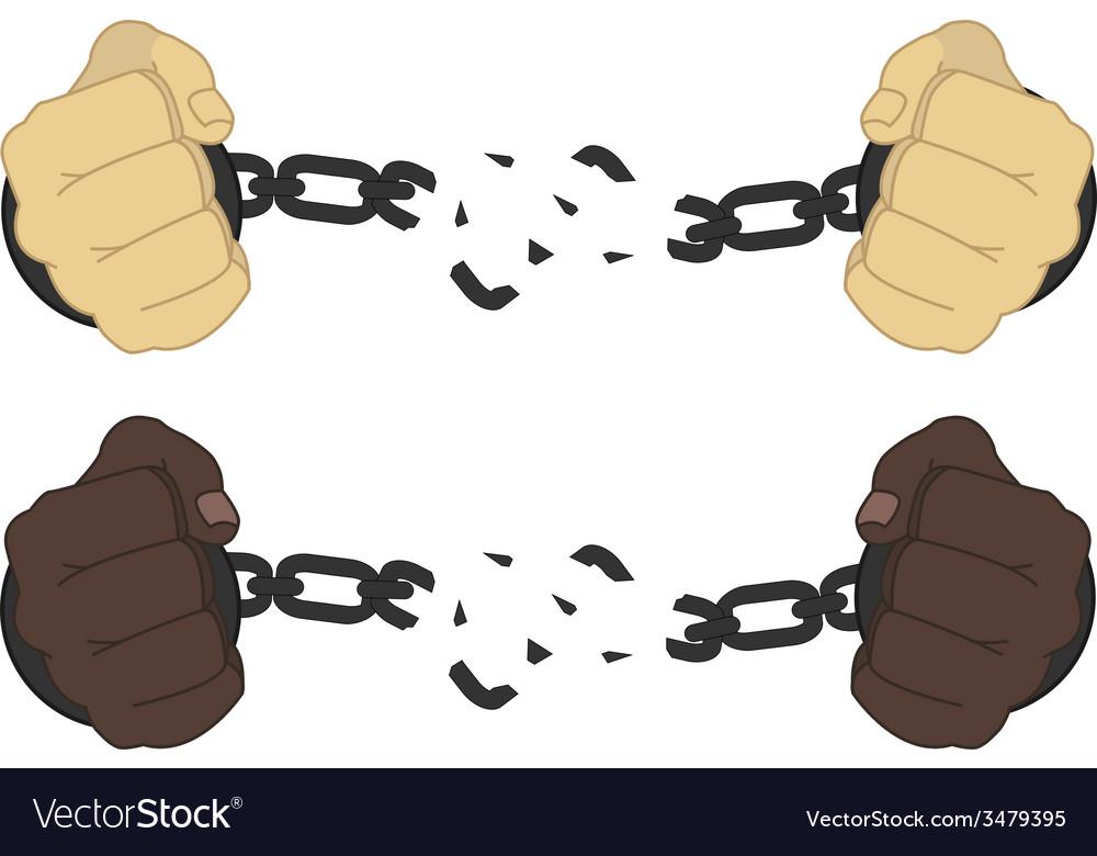 Women breaking handcuffs clipart banner freeuse download Male hands breaking steel handcuffs banner freeuse download