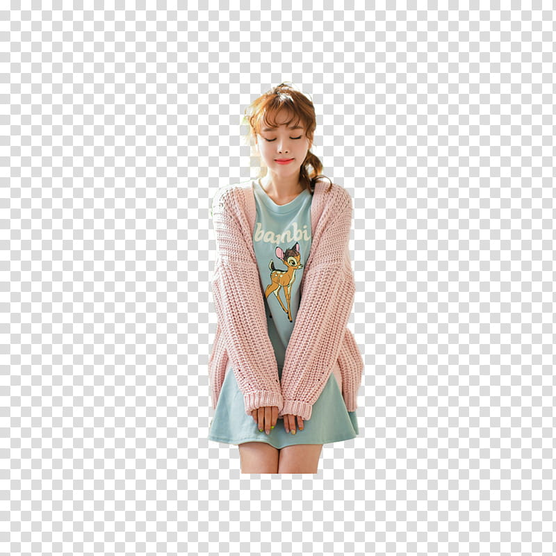 Women cardigan clipart png picture transparent download KIM SHIN YEONG, woman wearing pink cardigan transparent ... picture transparent download