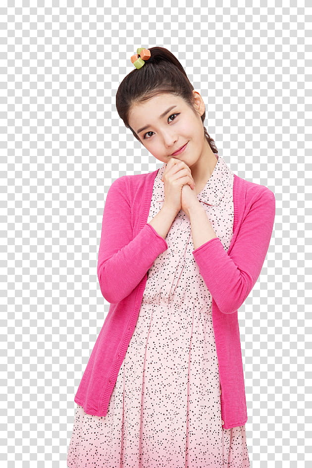 Women cardigan clipart png vector freeuse library IU, cutout of woman in collared dress and pink cardigan ... vector freeuse library