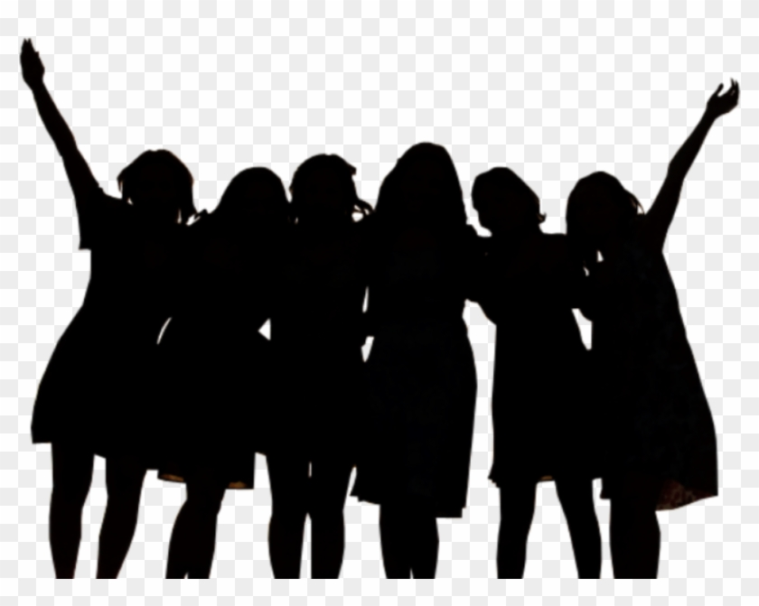 Women clipart png black outline banner freeuse library Audience Vector Outline - Group Of Women Clipart, HD Png ... banner freeuse library