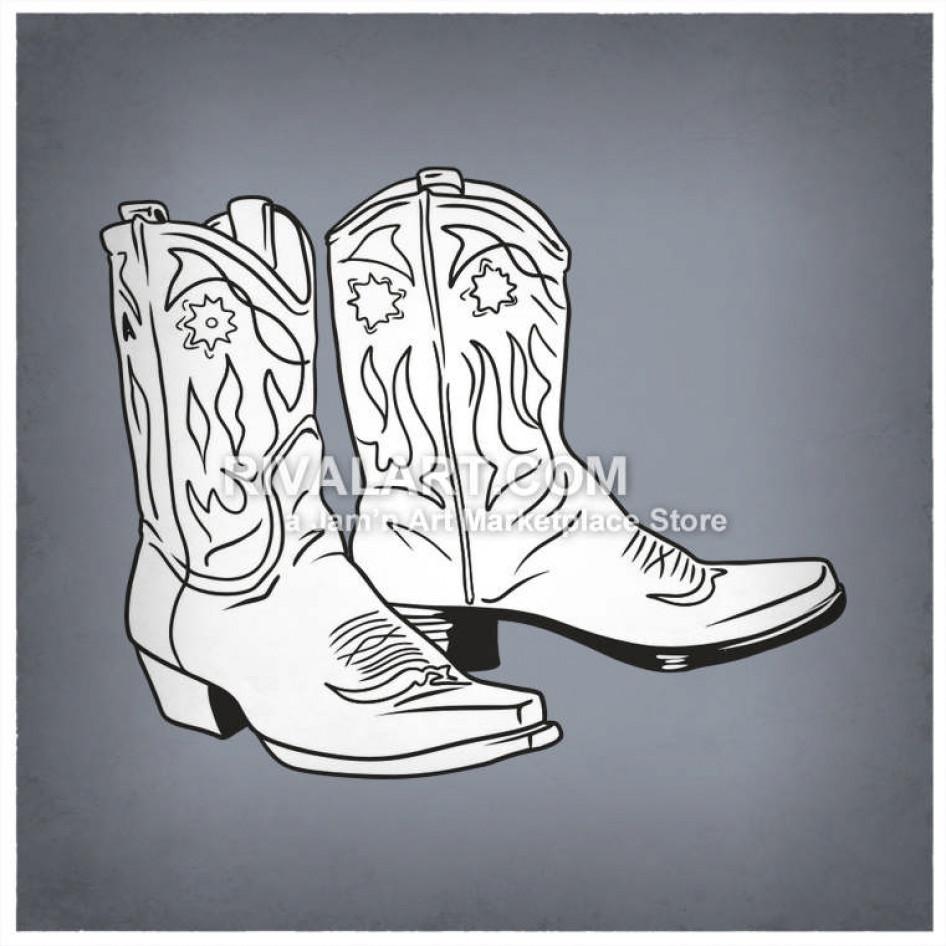 Women cowboy boot clipart vector royalty free stock Womens Cowboy Boots vector royalty free stock