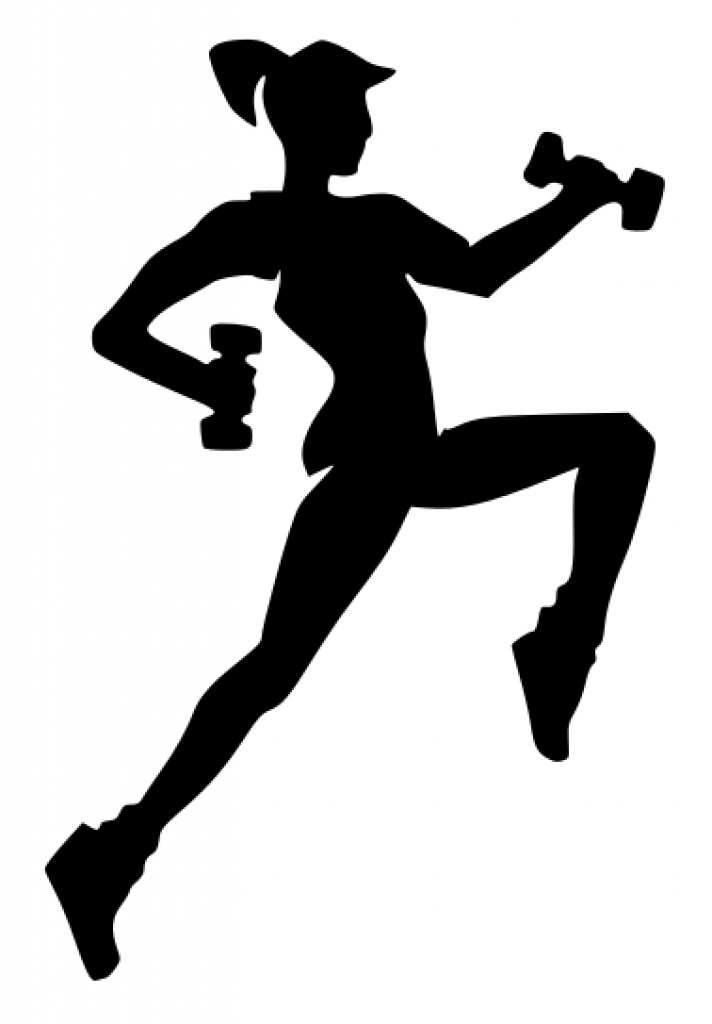Women fitness clipart graphic black and white Free Female Workout Cliparts, Download Free Clip Art, Free ... graphic black and white