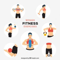 Women fitness clipart free 67 Best Fitness Clipart Logo images in 2016   Vector free ... free