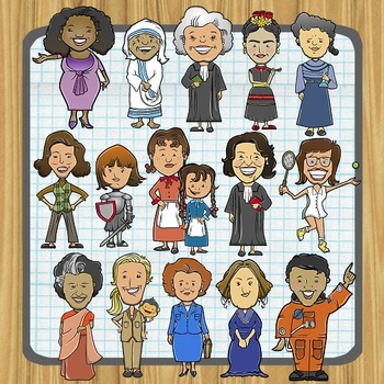 Women history clipart image library download Women in History (and Current Events) Clip Art image library download