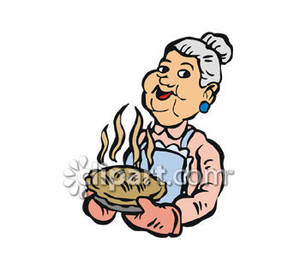 Women holding pie clipart vector free Granny Holding a Freshly Baked Pie - Royalty Free Clipart ... vector free