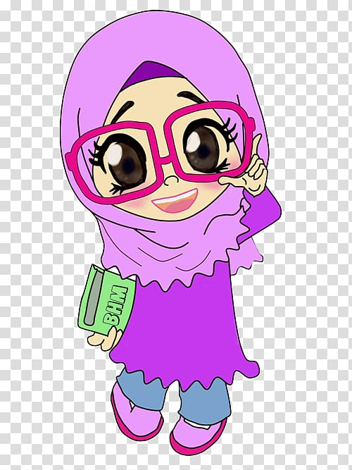 Women in abaieh clipart graphic free download Woman wearing hijab and abaya illustration, Muslim Color ... graphic free download