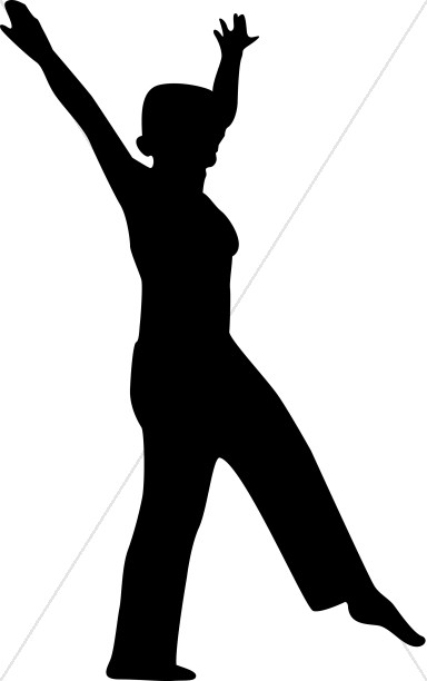 Women in praise clipart picture library Dancing Woman Silhouette | Praise Clipart picture library