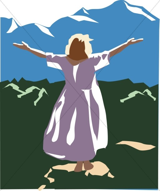 Women in praise clipart clipart free stock Woman with Arms Lifted in Praise | Praise Clipart clipart free stock