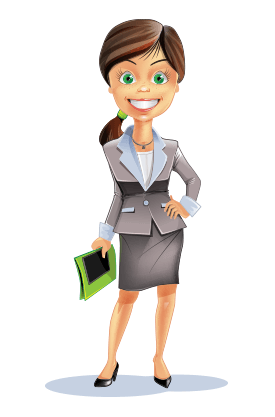 Women in suits clipart animation png stock 101 Free Business Vector Characters From All Over the Web png stock
