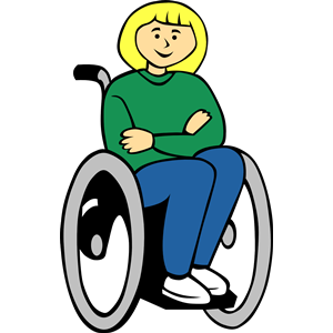 Women in wheelchair clipart vector black and white stock Girl in wheelchair clipart, cliparts of Girl in wheelchair ... vector black and white stock