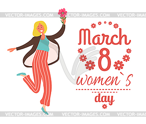 Women lettering clipart picture black and white stock Woman with Pink Flower, Blonde Girl and Lettering - vector ... picture black and white stock