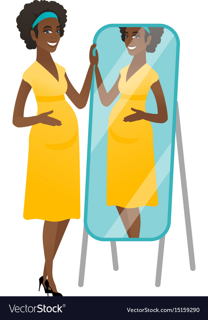 Women looking at herself in the mirror clipart clip library download Pregnant woman looking at herself in a mirror clip library download