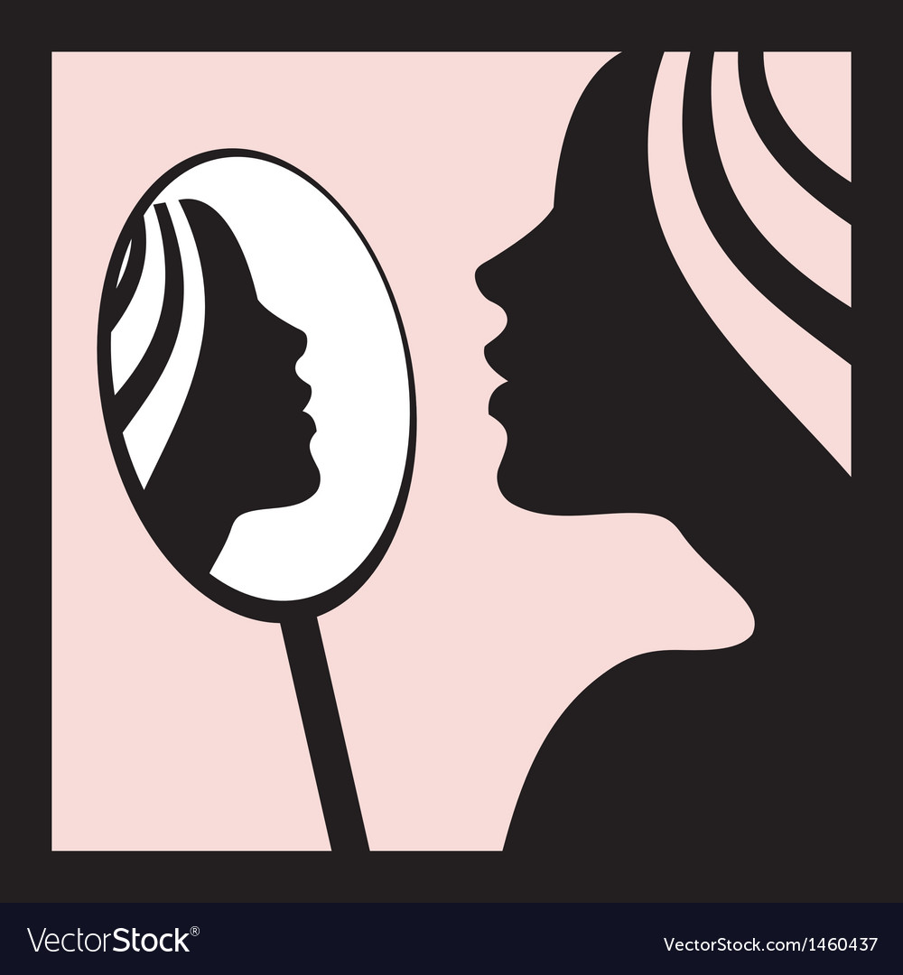 Women looking at herself in the mirror clipart clip royalty free Woman looking in the mirror clip royalty free