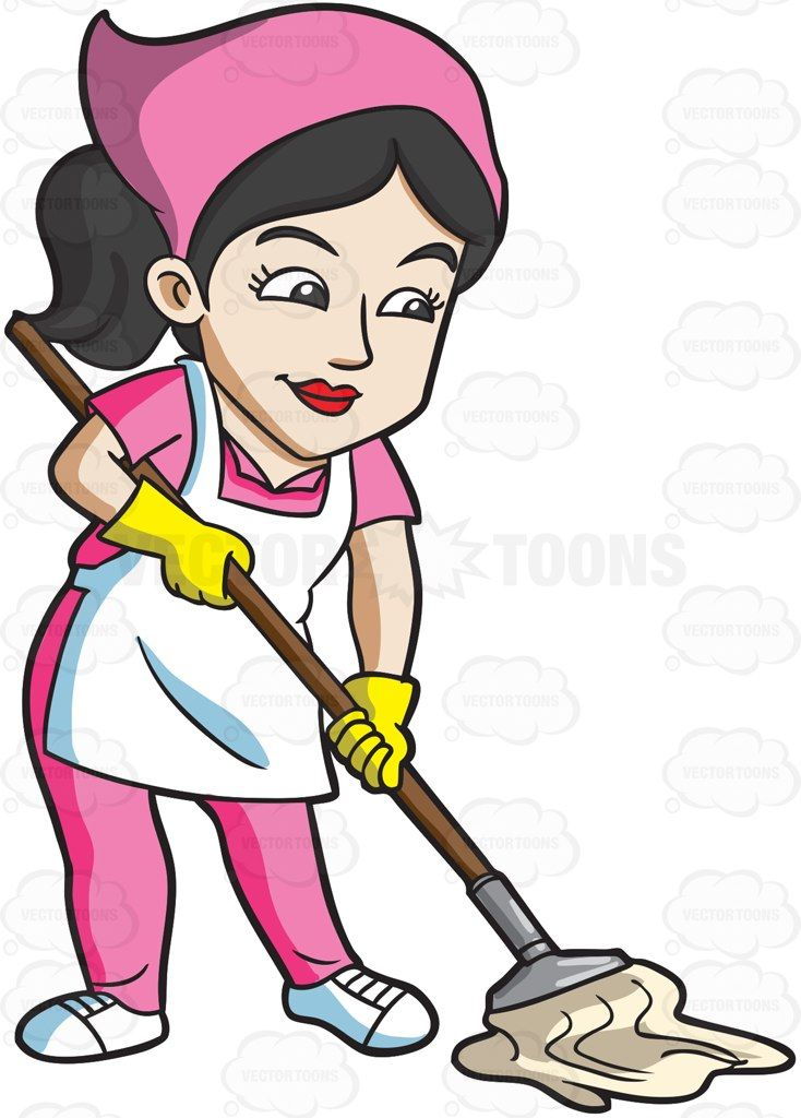 Women maid clipart png free stock A maid mopping the floor #cartoon #clipart #vector ... png free stock