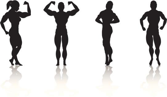 Women muscle clipart