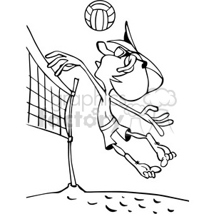 Women on the beach clipart black and white vector transparent Volleyball clipart - Royalty-Free Images   Graphics Factory vector transparent
