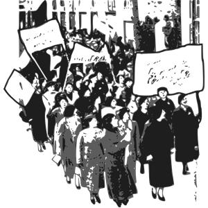 Women protesr clipart vector transparent stock Protest Women clipart, cliparts of Protest Women free ... vector transparent stock