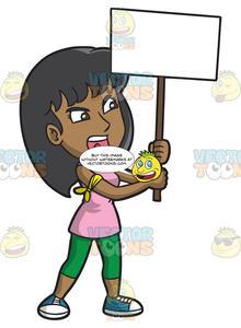 Women protesr clipart clip art freeuse stock A Livid Woman In Protest clip art freeuse stock