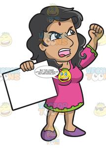 Women protesting clipart black and white library An Indian Woman In Protest black and white library