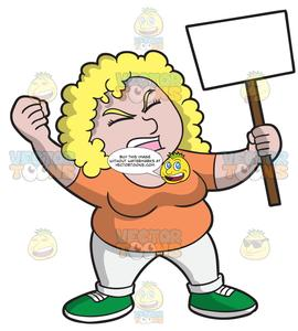 Women protesting clipart image freeuse download A Woman In Protest For Her Cause image freeuse download
