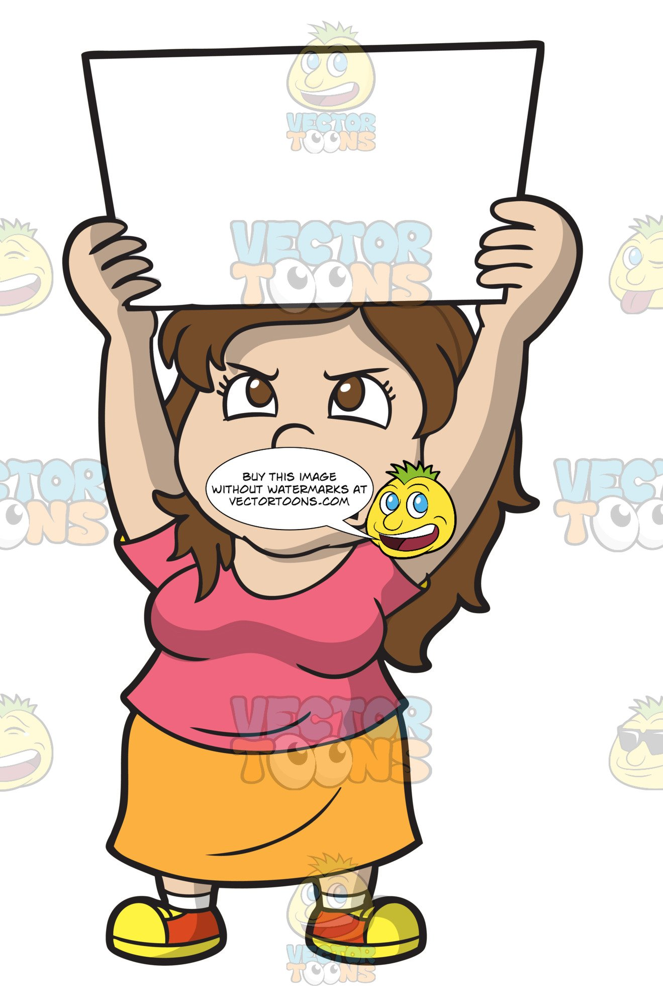 Women protesting clipart banner royalty free library An Angry Woman In Protest banner royalty free library