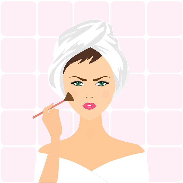 Women put on makeup clipart svg library stock Free Doing Makeup Cliparts, Download Free Clip Art, Free ... svg library stock