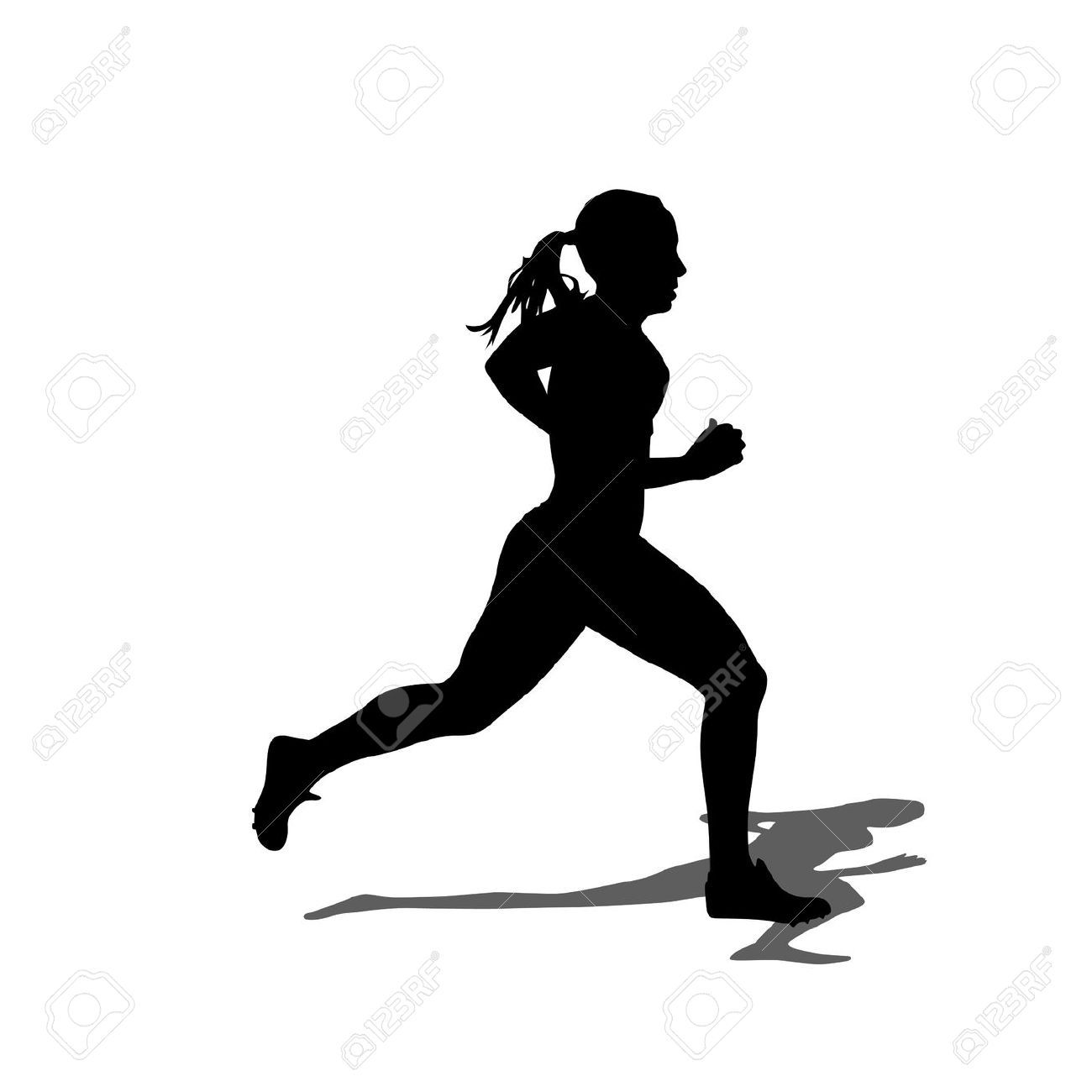Runner jumper clipart clip royalty free download Female Athletes Stock Vector Illustration And Royalty Free ... clip royalty free download