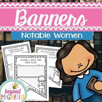 Women s activities clipart vector transparent Women\'s History Month Activities Notable Women Classroom Banners vector transparent