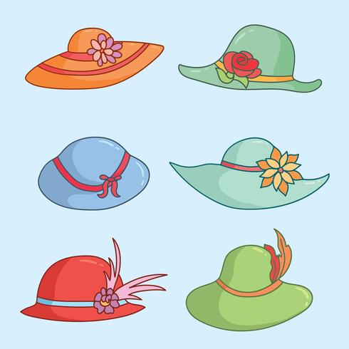 Women s derby hat outline clipart clip art royalty free Kentucky Derby Hats On Blue Vector - Download Free Vector ... clip art royalty free