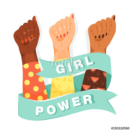 Women s empowerment fists clipart transparent clip art black and white download Feminism, girl power concept. Feminism symbol. Woman\'s fists ... clip art black and white download