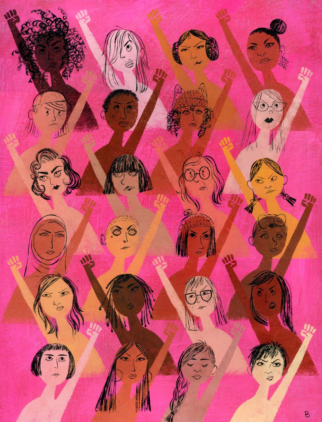 Women s empowerment fists clipart transparent clipart transparent download Brigette Barrager   70s art in 2019   Feminist art, Feminism ... clipart transparent download