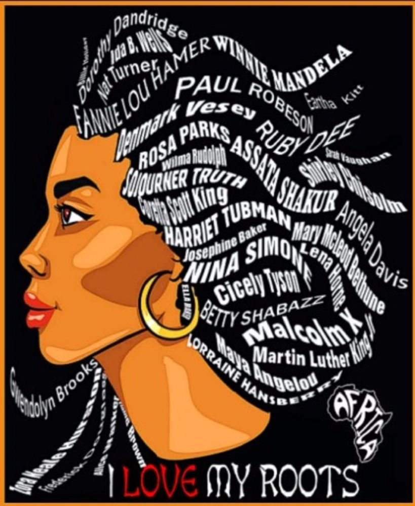 Women s history month 2019 clipart jpg black and white download Details about Black history T Shirt-I Love my roots fitted ... jpg black and white download