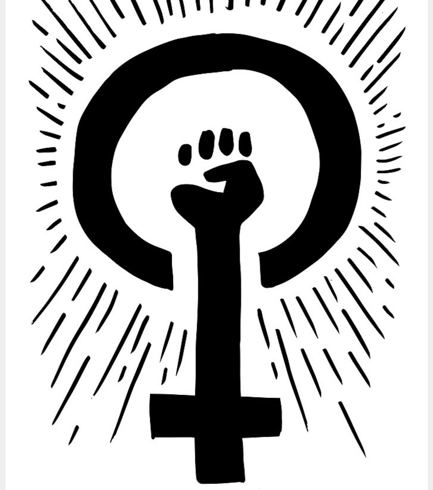 Women s march black and white clipart svg freeuse Women\'s march. Inclusion, equality, strength. | symbols ... svg freeuse