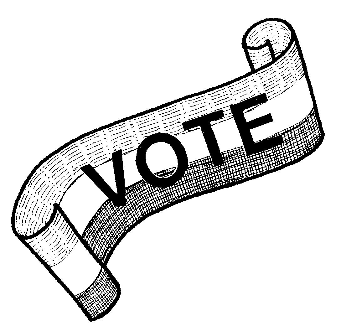 Vote for me black and white clipart image transparent stock Woman suffrage clipart - Clip Art Library image transparent stock