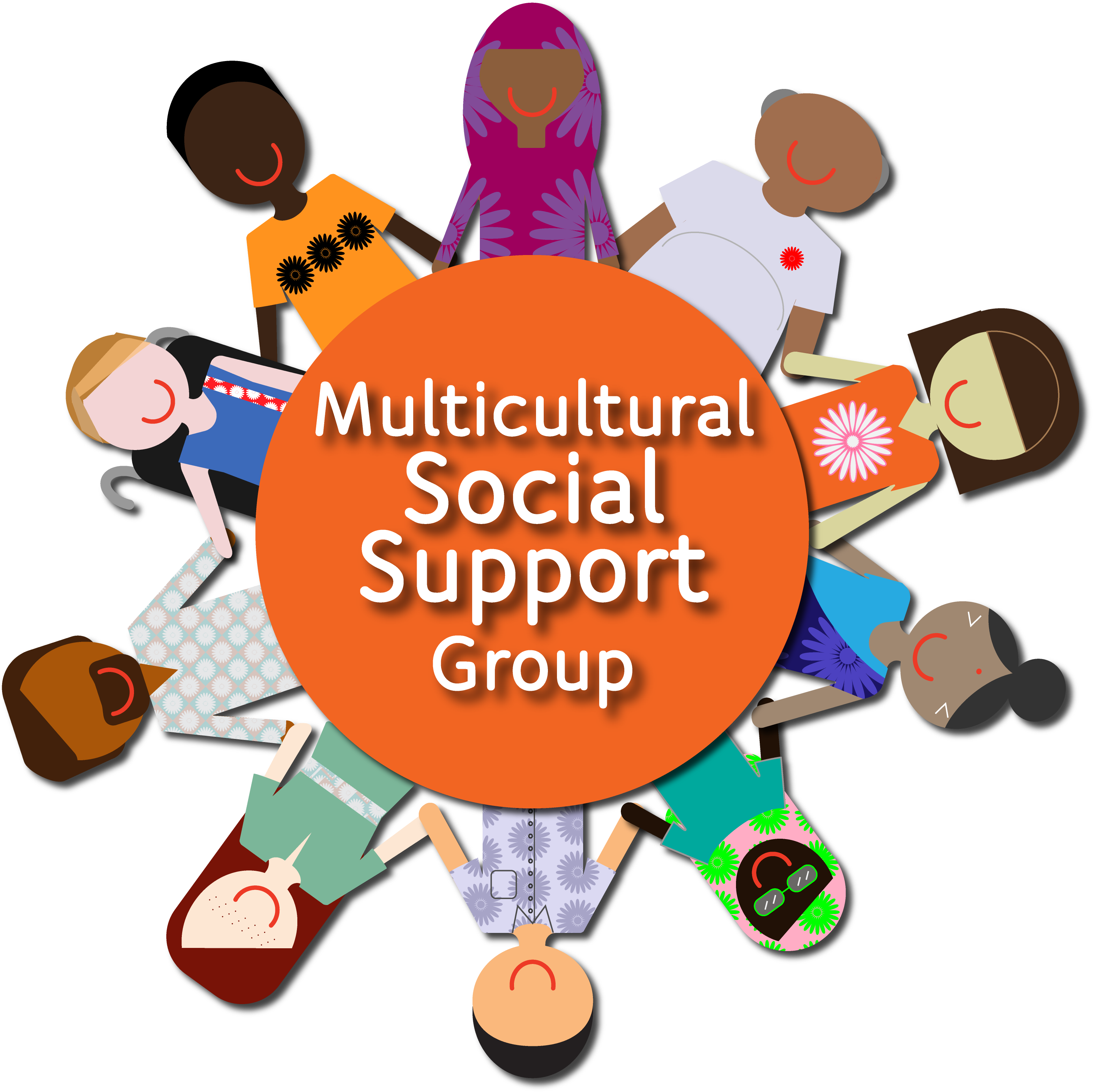 Women s support group clipart clip freeuse Multicultural Social Support Group - Support Group ... clip freeuse