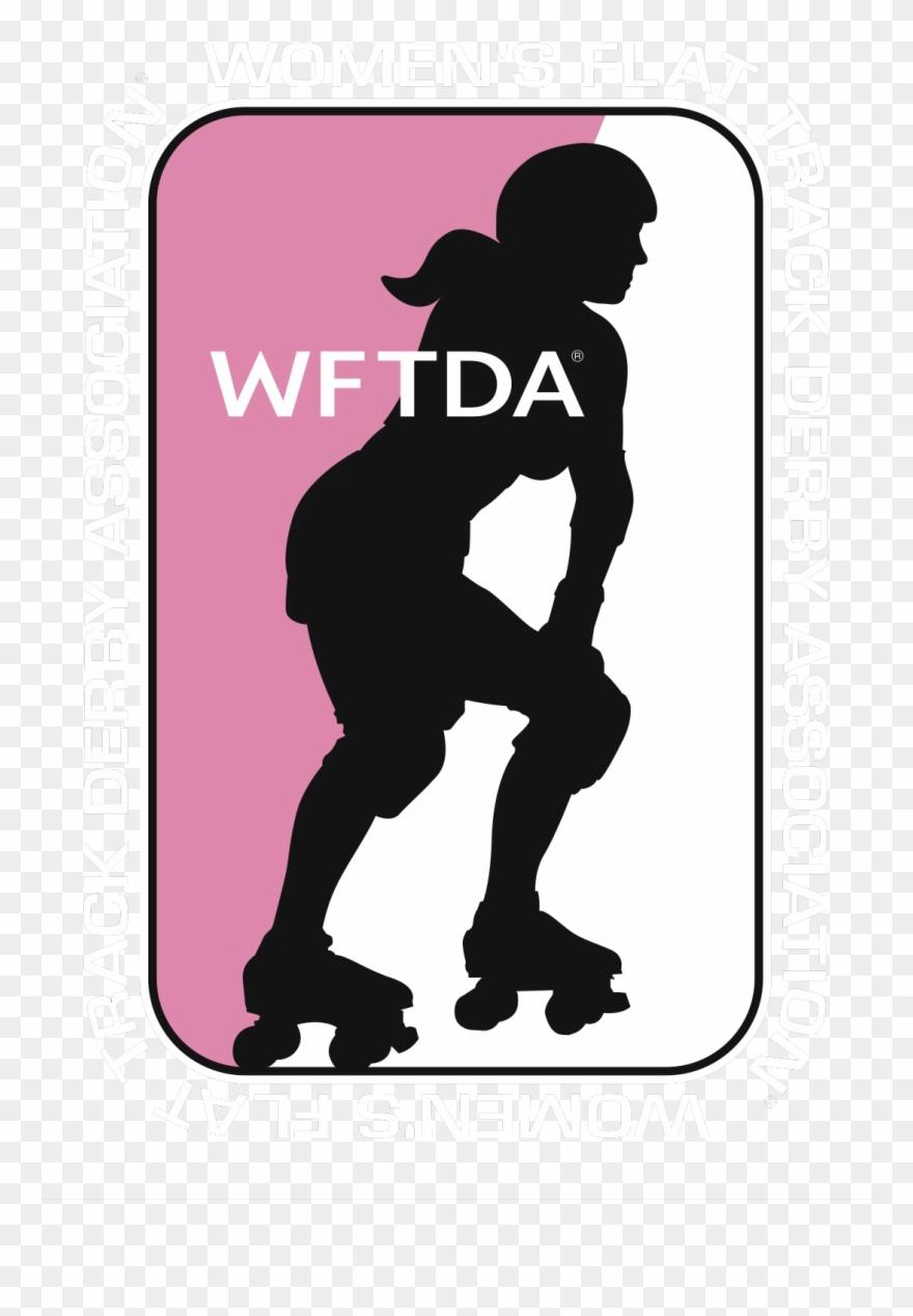 Women s track clipart vector transparent stock Women\'s Flat Track Derby Association Clipart (#1053960 ... vector transparent stock