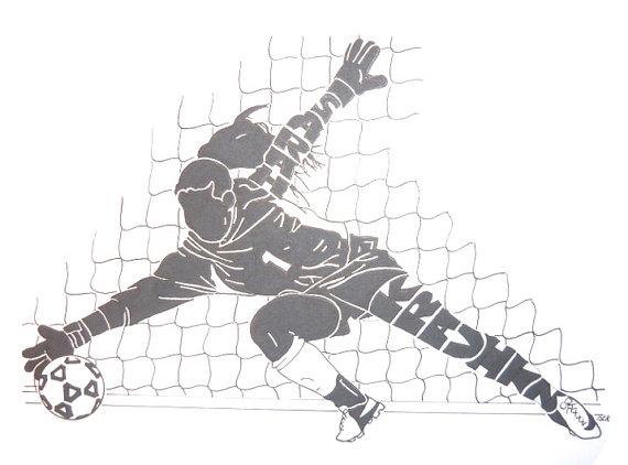Women soccer goalkeeper clipart clip black and white download Women\'s Soccer Goalie Silhouette   Products   Soccer goalie ... clip black and white download
