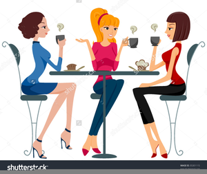 Women together friends clipart image black and white library Old Women Friendship Clipart   Free Images at Clker.com ... image black and white library