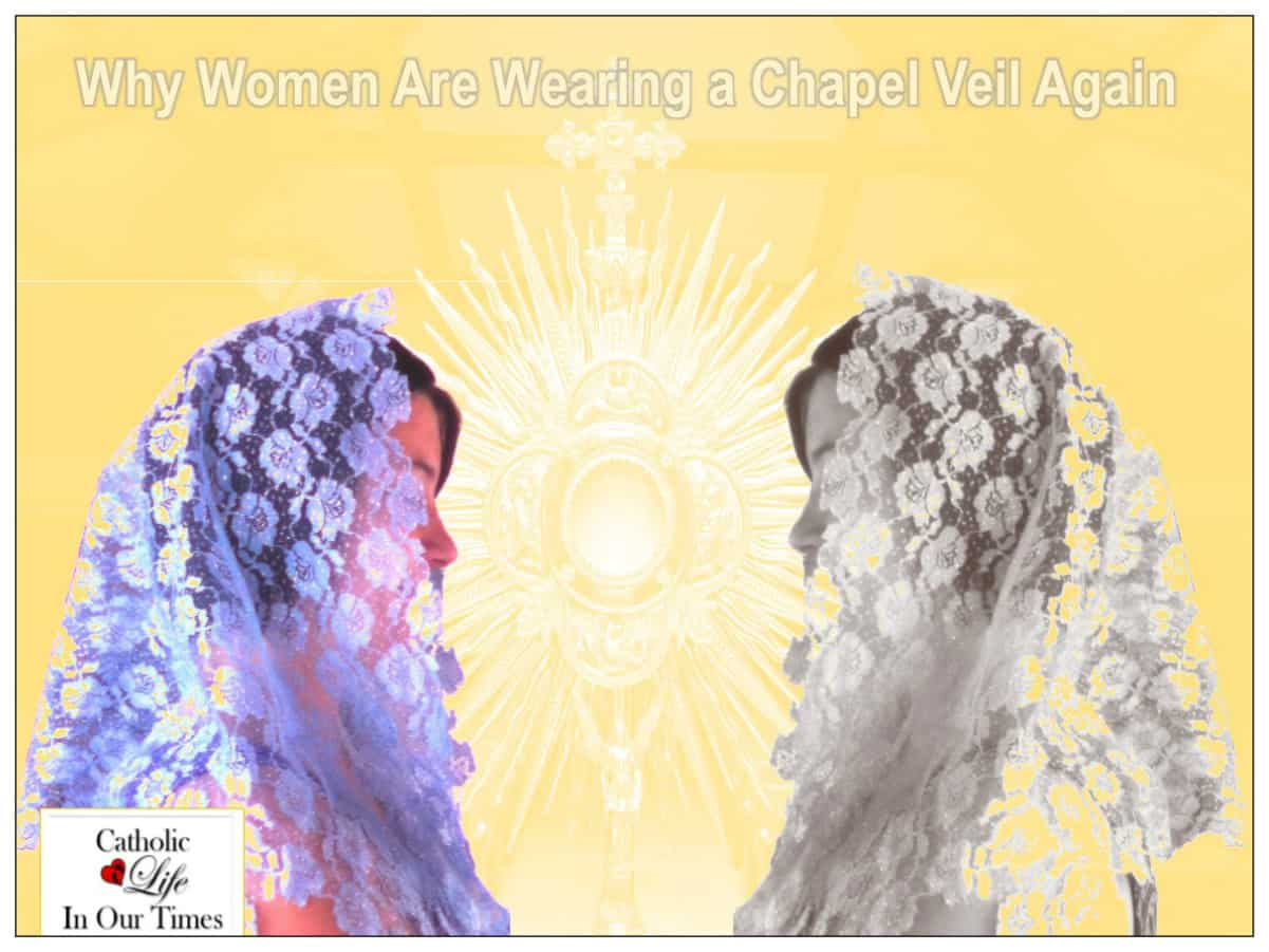 Women veiled clipart clipart royalty free stock Why Women Are Wearing a Chapel Veil Again - Catholic Life In ... clipart royalty free stock