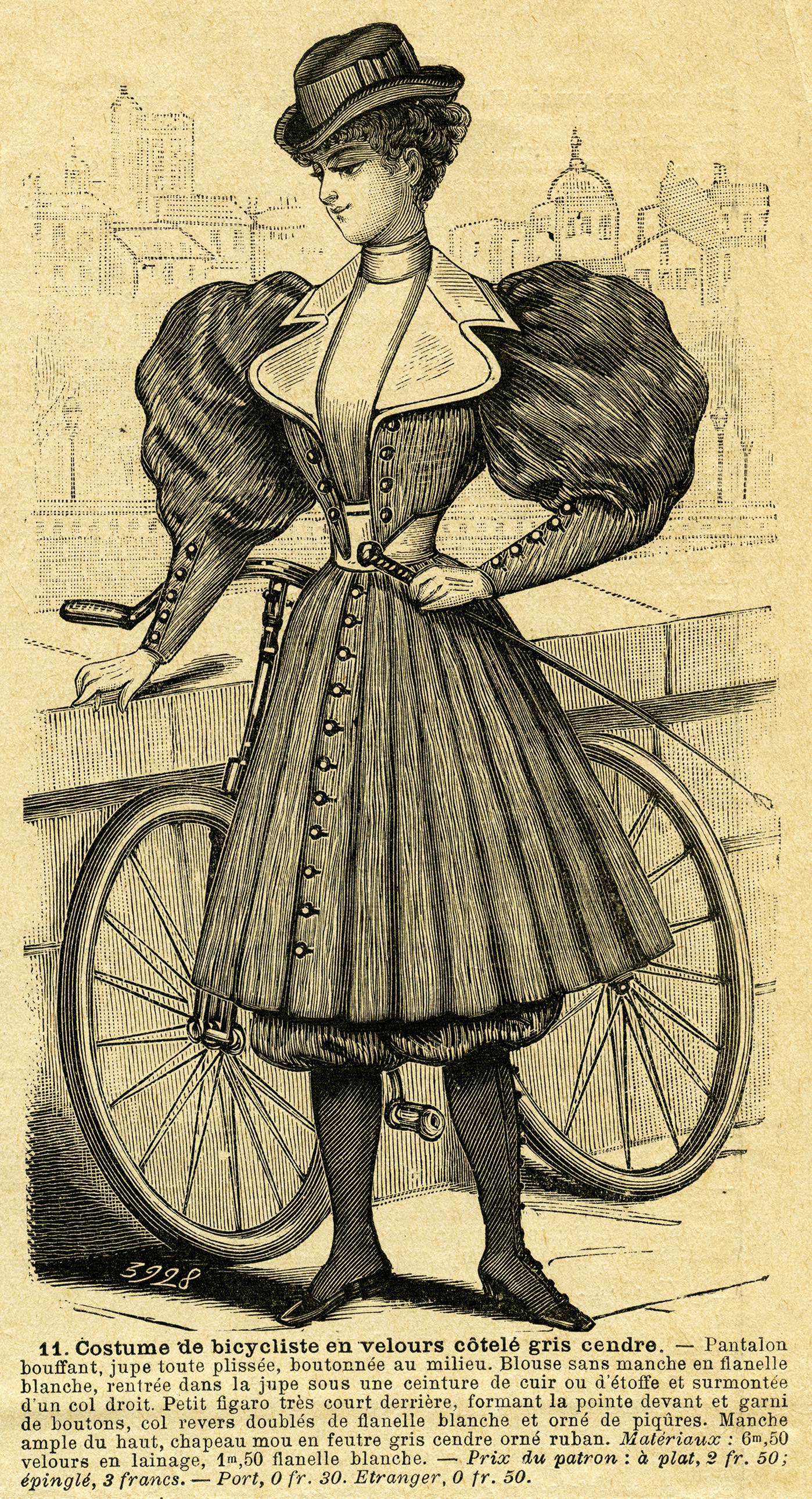Women victorian glove clipart graphic royalty free library Vintage French Bicycle Outfit for Ladies ~ Free Magazine Ad ... graphic royalty free library