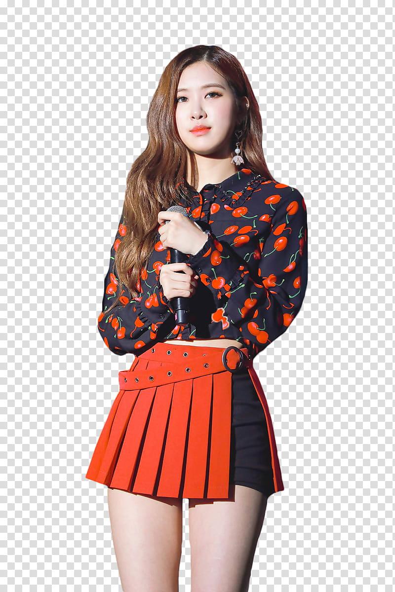 Women wearing chiffon skirts clipart png library download ROSE BLACKPINK HANNAK, woman wearing black and red long ... png library download