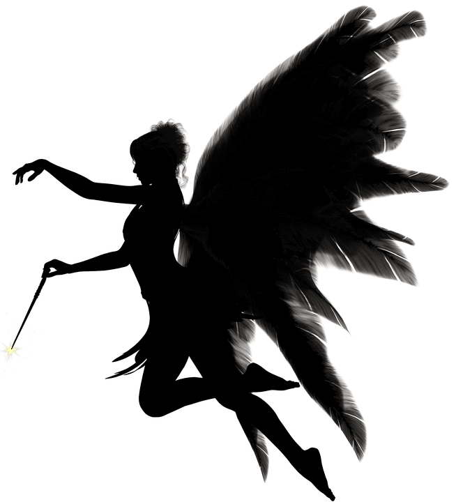 Women with wings clipart clip free Free photo Woman Angel Silhouette Fig Female Wing - Max Pixel clip free