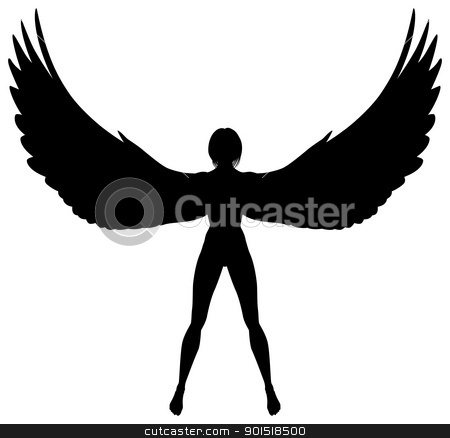 Women with wings clipart clip art library library Winged woman stock vector clip art library library