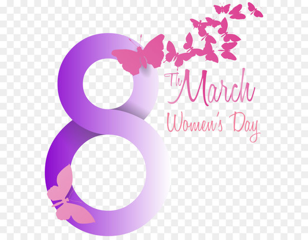 Women-s day clipart banner black and white library International Women\'s Day March 8 Clip art - Soft Violet 8 ... banner black and white library