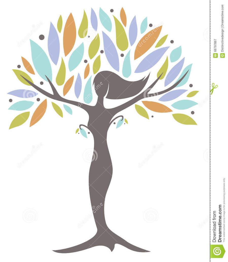 Women-s empowerment clipart clipart freeuse Woman, Illustration, Tree, Leaf, Plant, Flower, Line, Font ... clipart freeuse