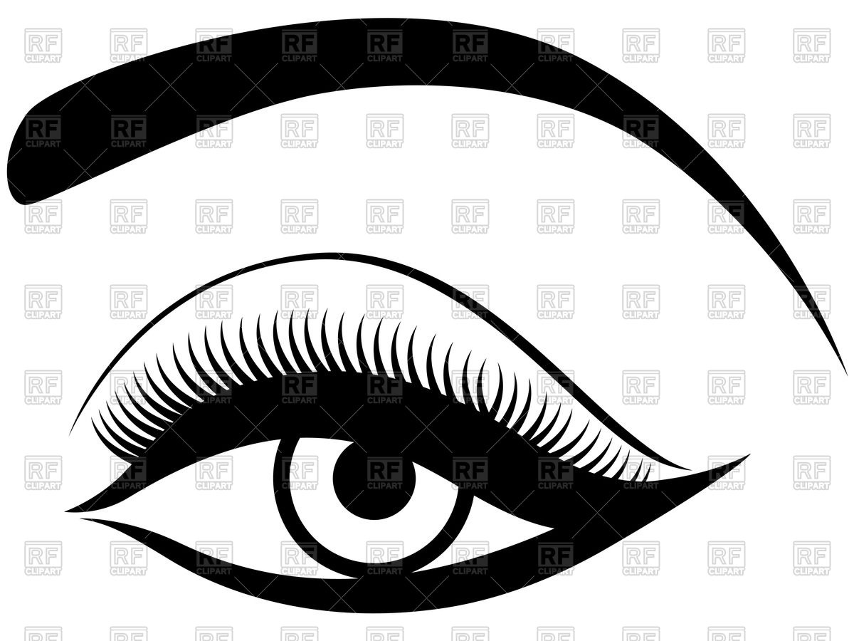 Womens eyes with lashes clipart picture transparent library Collection of Eyelashes clipart | Free download best ... picture transparent library